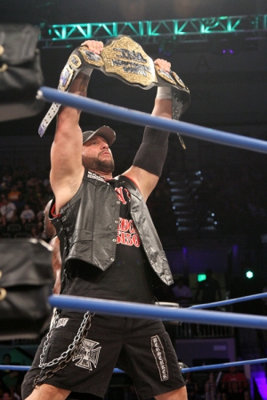 Bully Ray Holding the TNA Title