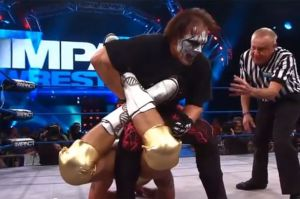 Sting becomes the #1 contender for the TNA World Heavyweight Championship, forcing Matt Morgan to submit to his Scorpion Deathlock on the May 2nd edition of Impact Wrestling.