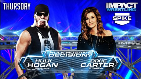 Hulk Hogan & Dixie Carter Face Off... Great.